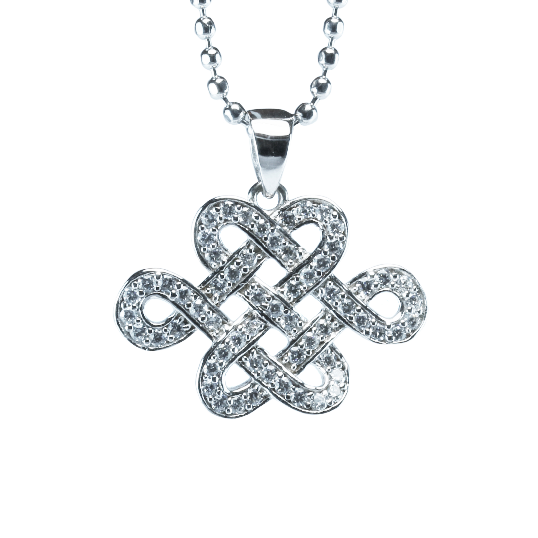 glass knot necklace pendant us rhinestone