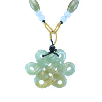 Jade Mystic Knot Pendant with String