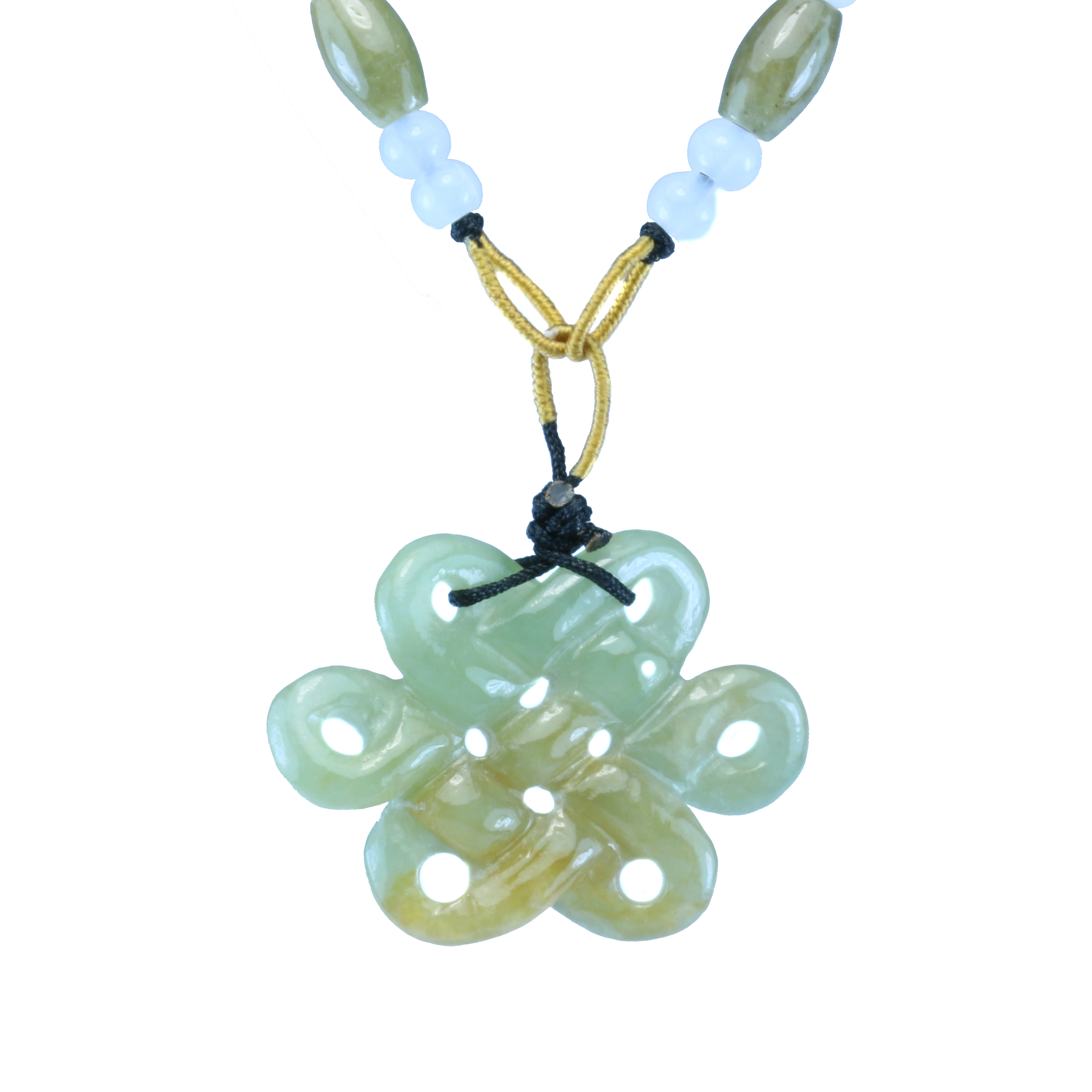 Jade mystic knot pendant with string 8treasures jade mystic knot pendant with string aloadofball Choice Image