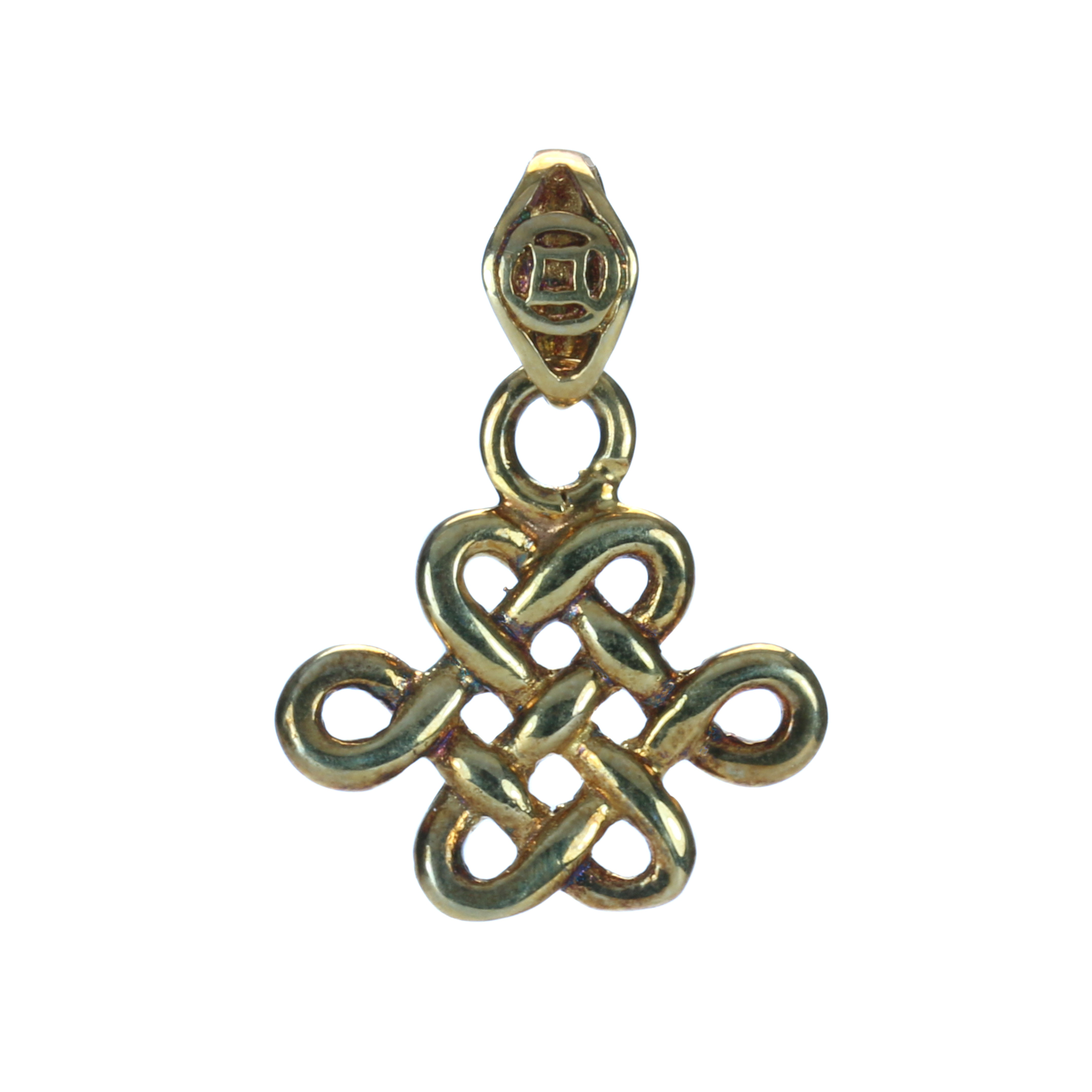Gold plated mystic knot with coin pendant 8treasures gold plated mystic knot with coin pendant mozeypictures Image collections