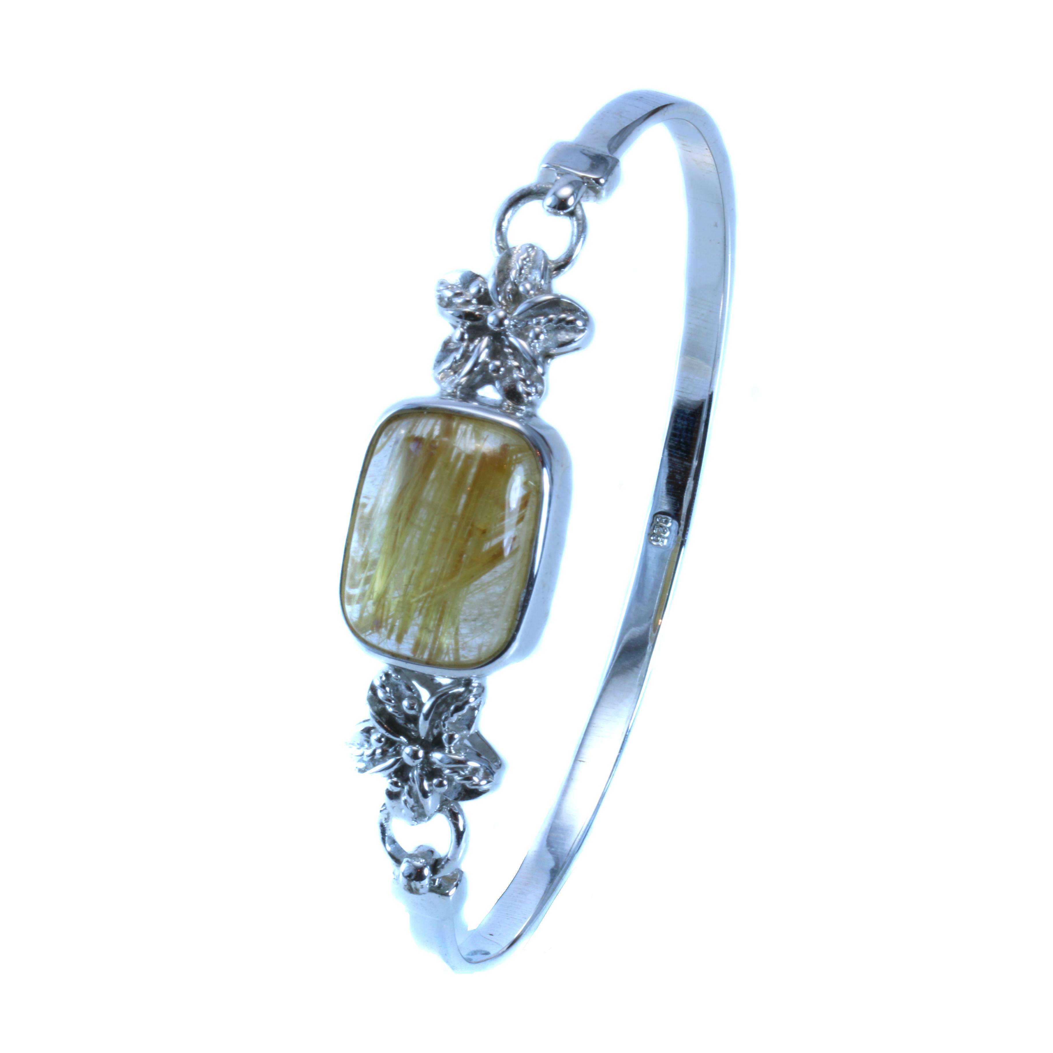 Rutilated Quartz Crystal Bracelet (Golden) - 8Treasures