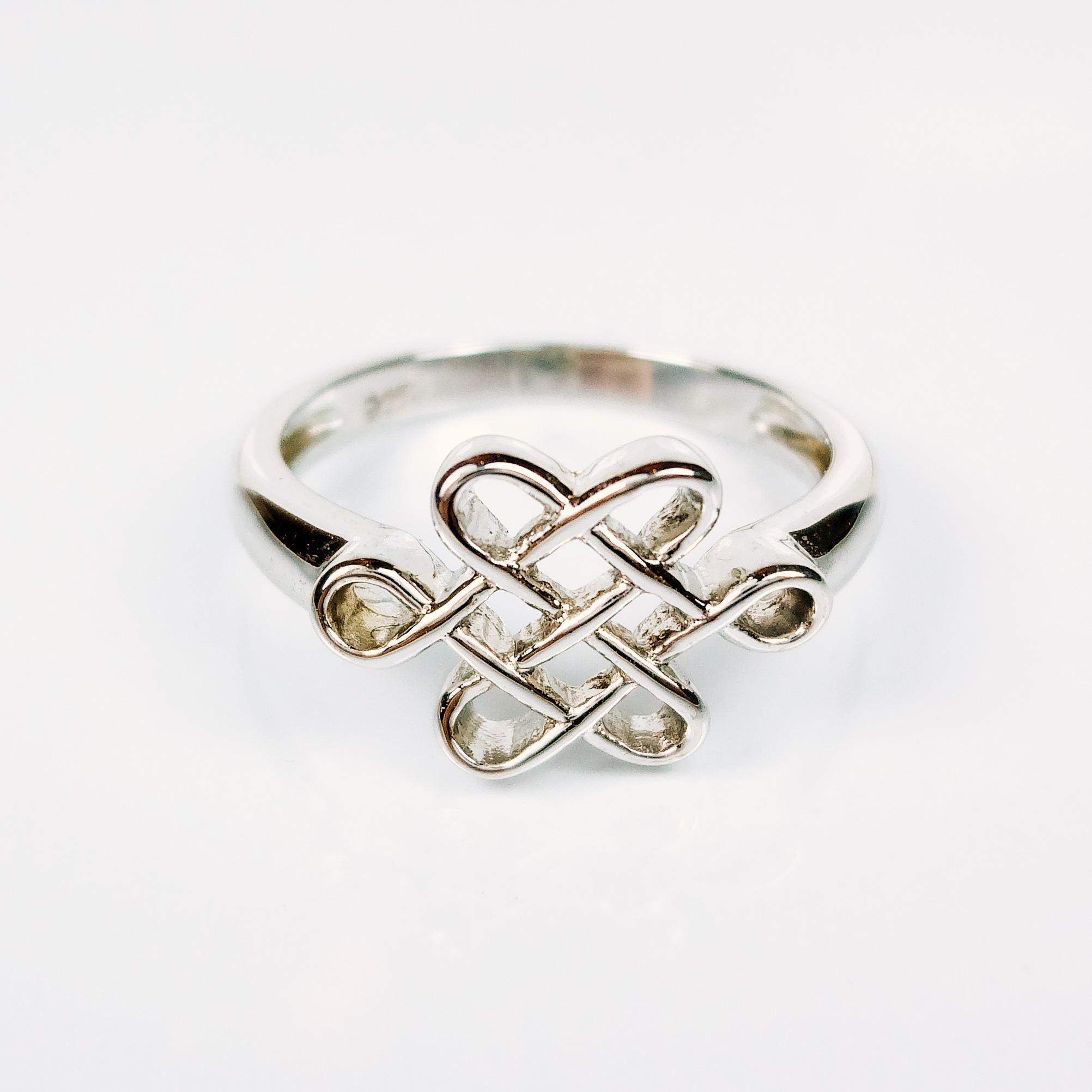 silver diamond ring mystic product knot