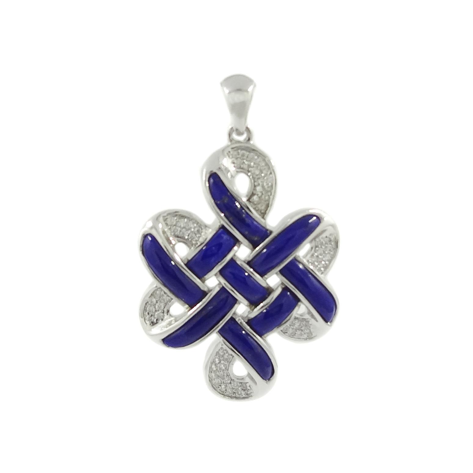 Blue lapis lazulli mystic knot pendant 8treasures blue lapis lazulli mystic knot pendant mozeypictures Image collections