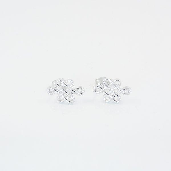 Silver Mystic Knot Earrings 8treasures