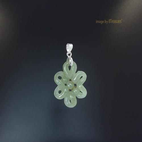 Enhanced mystic knot pendant jade greenish 8treasures enhanced mystic knot pendant mozeypictures Image collections
