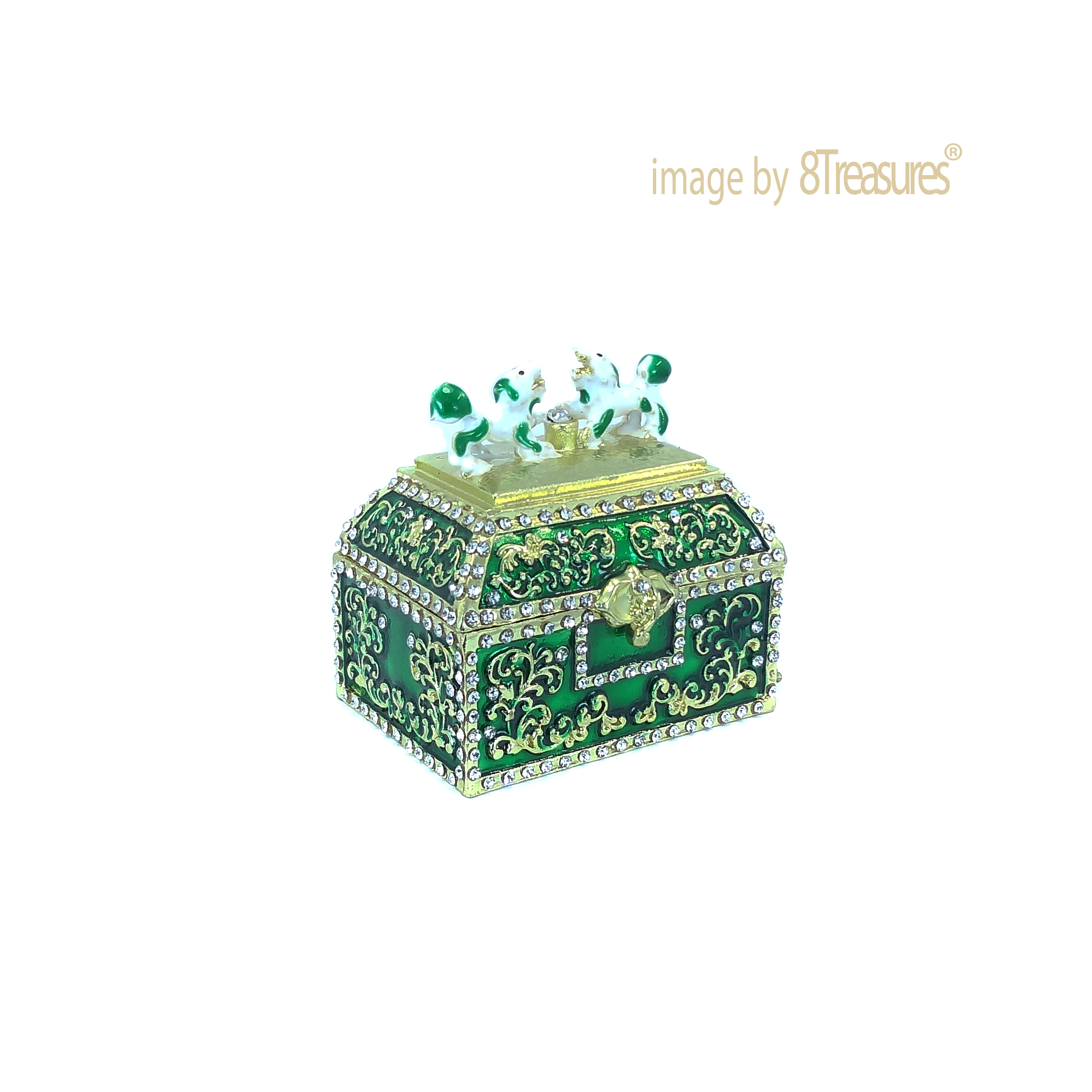 green treasure chest - wealth attraction
